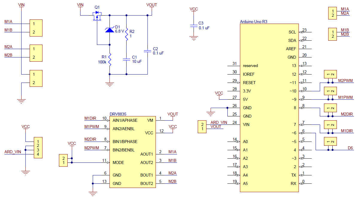 Pololu Drv8835 Dual Motor Driver Shield For Arduino L298n H Bridge Diagram Free Download Wiring Diagrams Pictures Schematic