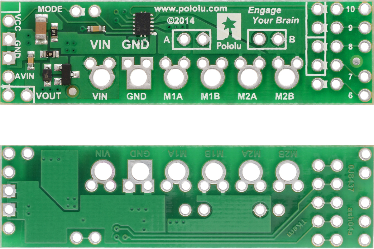 Pololu Blog Page 43 Compact Arduino Altimeter For Rc Planes Circuit Drv8835 Dual Motor Driver Shield Top And Bottom Sides