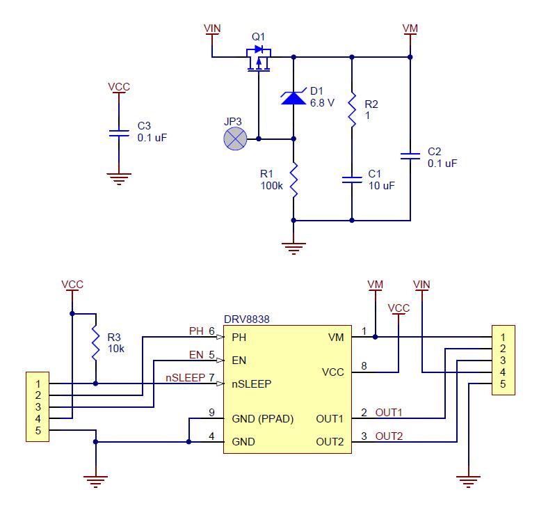 brush dc motor controller wiring diagram pololu drv8838 single brushed dc motor driver carrier  drv8838 single brushed dc motor driver