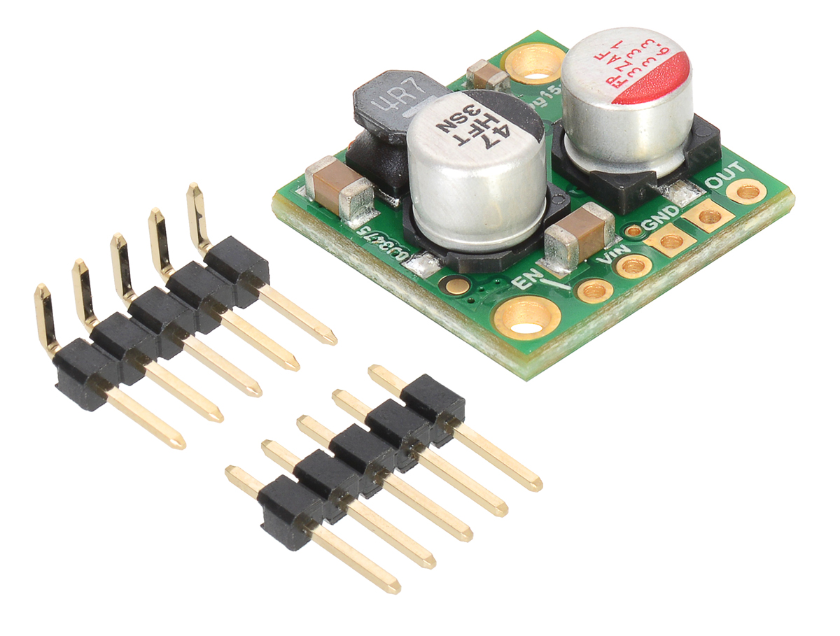 Pololu 9v 25a Step Down Voltage Regulator D24v25f9 Gallery Breadboard Power Supply Diy Kit Buildcircuit D24v25fx With Included Hardware
