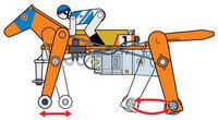 Tamiya 71112 Mechanical Racehorse motion diagram.