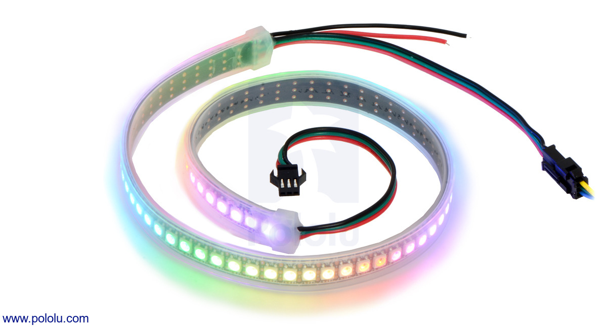 Addressable High-Density RGB 72-LED Strip, 5V, 0 5m (SK6812)