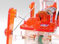Tamiya 71112 Mechanical Racehorse back view of gearbox-driven crank and linkage rods.