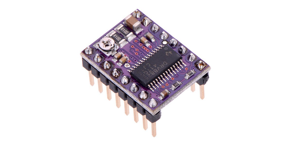 Pololu drv8825 stepper motor driver carriers high current for Stepper motor with driver