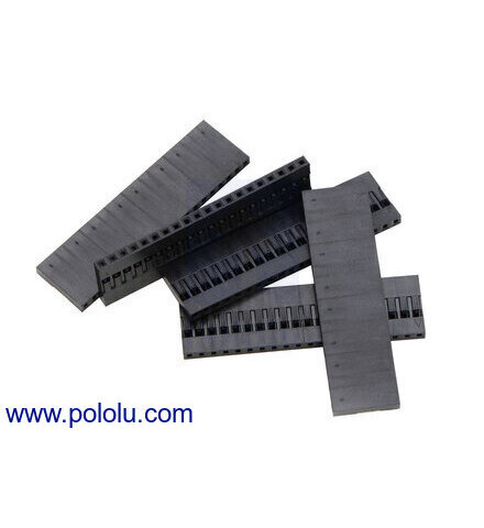 2.54mm 1x9-Pin 5-Pack 1908 Crimp Connector Housing 0.1/""