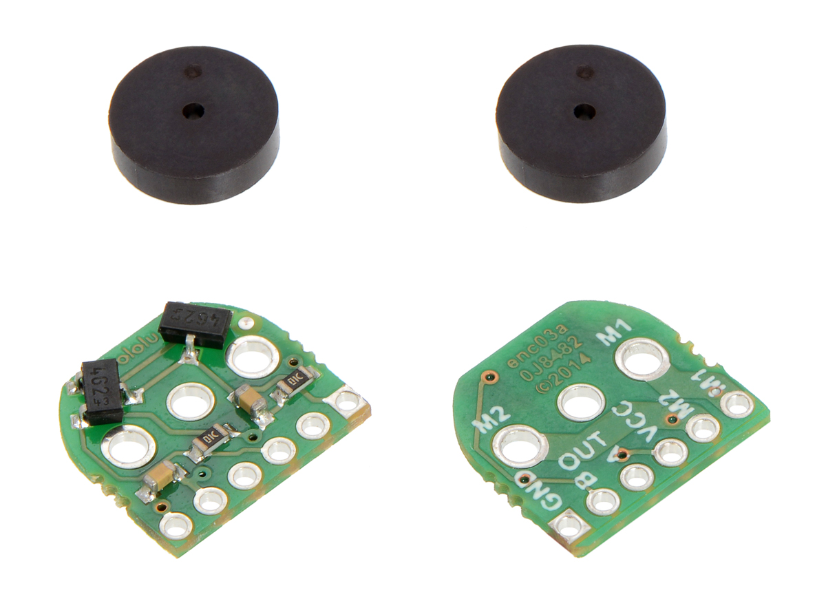 Pololu Magnetic Encoder Pair Kit For Micro Metal Gearmotors 12 Simple Pulse Counter Using Hall Sensor Circuit Diagram Cpr 27 18v Old Version