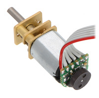 Magnetic Encoder Kit for Micro Metal Gearmotors assembled with ribbon cable wires.