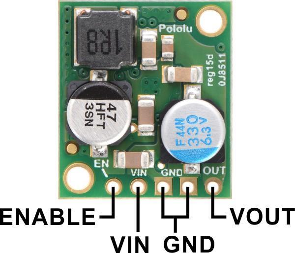pololu 5 v 5 a step-down voltaj regülatör d24v50f5 - pl-2851 pin dizilimi