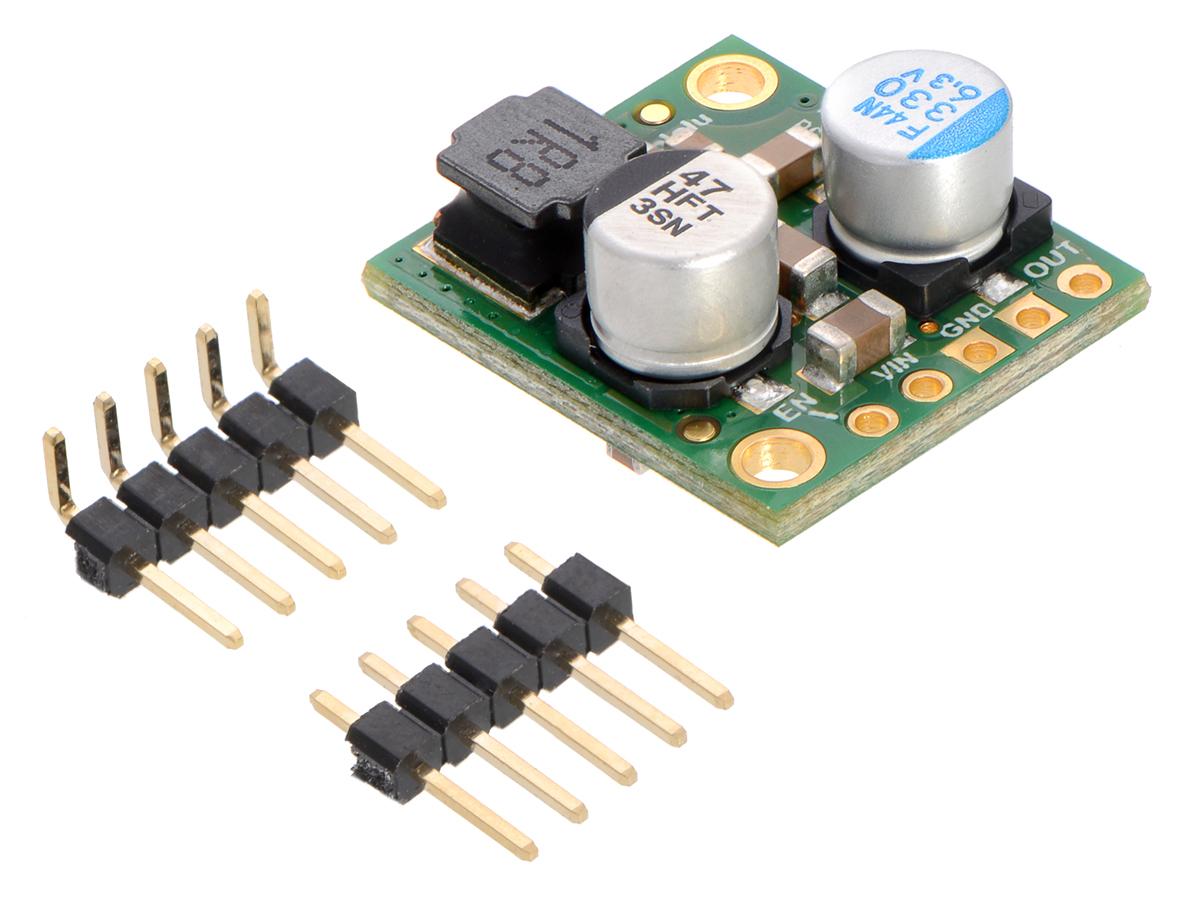 Pololu 5v 5a Step Down Voltage Regulator D24v50f5 15v Reducing Noise D24v50fx With Included Hardware