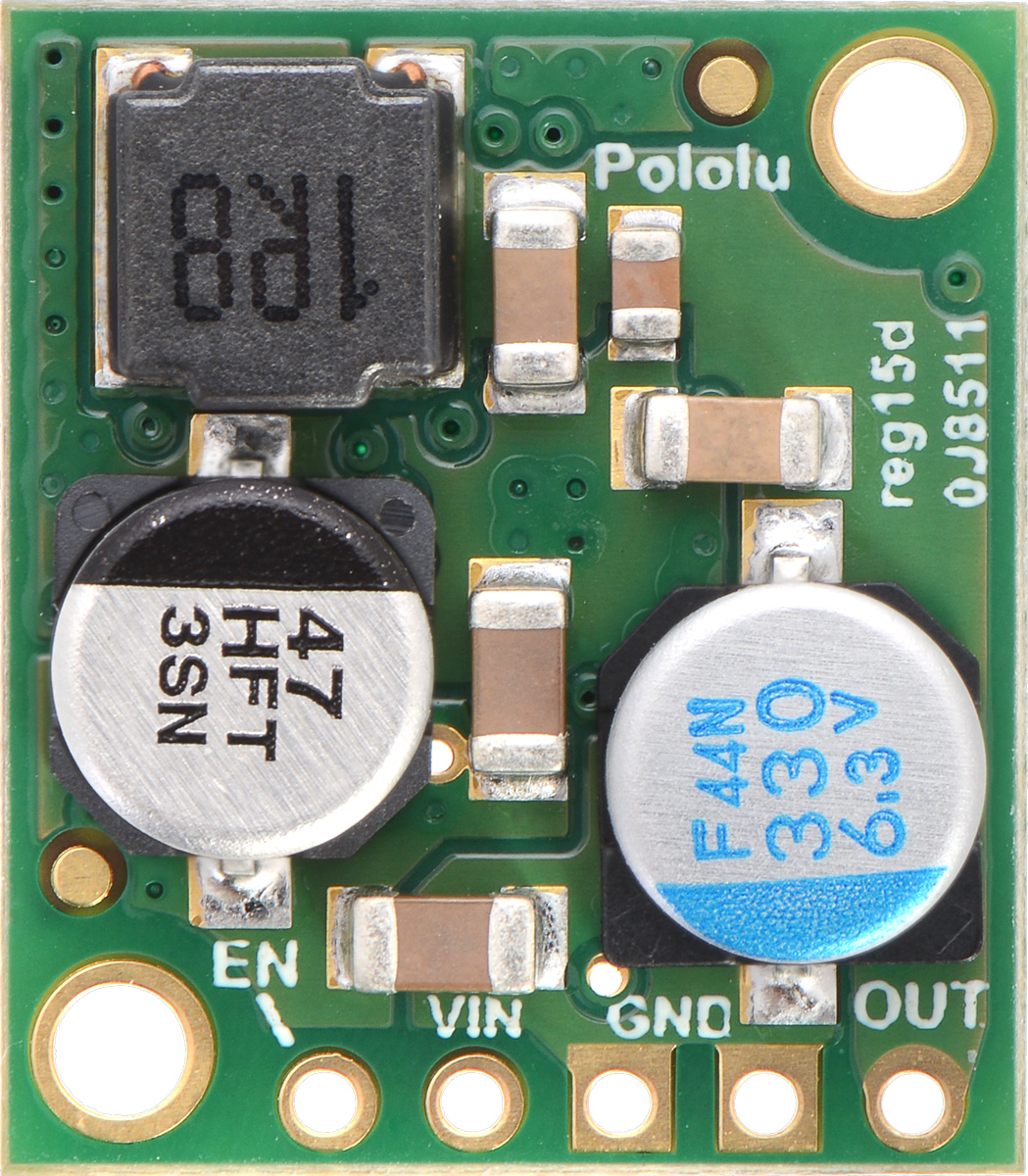 Pololu New Product 5v 5a Step Down Voltage Regulator D24v50f5 More Mosfet Circuits Regulators Remember The Post I Wrote Two Weeks Ago About Our Tiny D24v25f5 And Some Of Testing That We Did On It Well Were So Happy With How