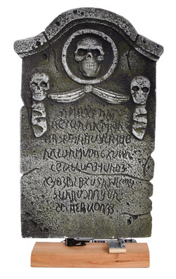 Scary shaking tombstone
