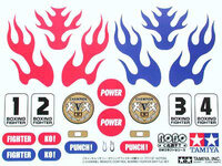 Tamiya 71113 Boxing Fighter Battle Set decoration/identification stickers.