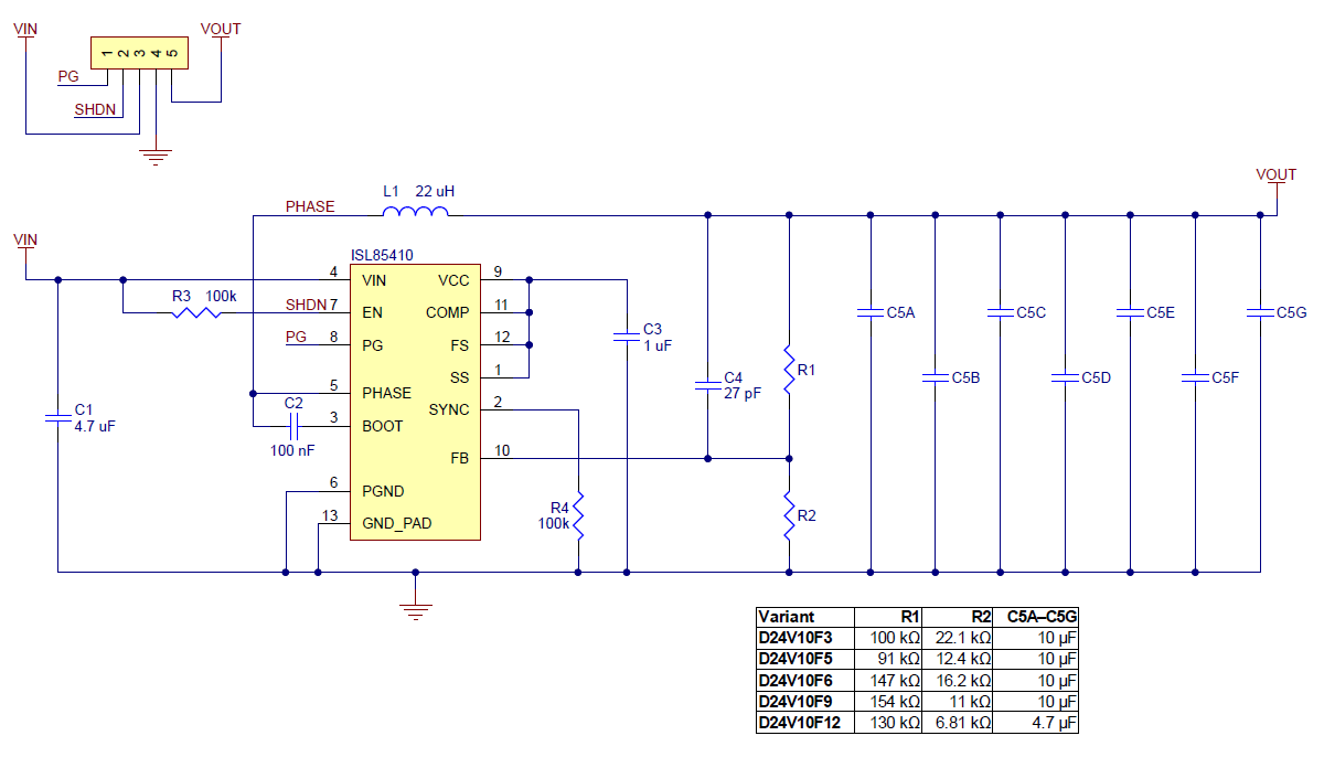 circuit diagram 12v regulator wiring diagrampololu 12v, 1a step down voltage regulator d24v10f12schematic diagram for the pololu d24v10fx family of