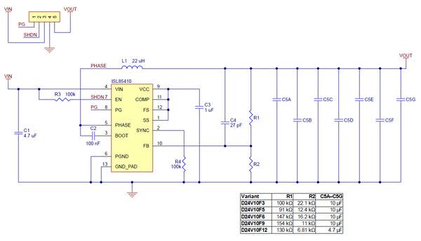 D24V10F12 Schematic Diagram