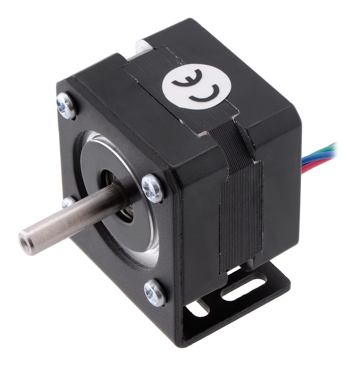 Pololu Stepper Motor Bipolar 200 Steps Rev 3528mm 10v 05 A Circuit For With Two Phase Or Unipolar Four Nema 14 Item 1207 Mounted Stamped Aluminum L Bracket Motors