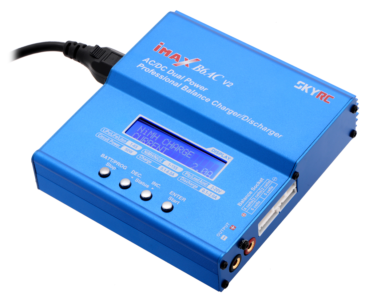 50W AC//DC Dual Power Balance Charger for RC Lipo Battery From USA Imax B6AC