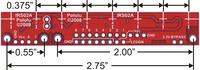 QTR-8A and QTR-8RC reflectance sensor array dimensions.