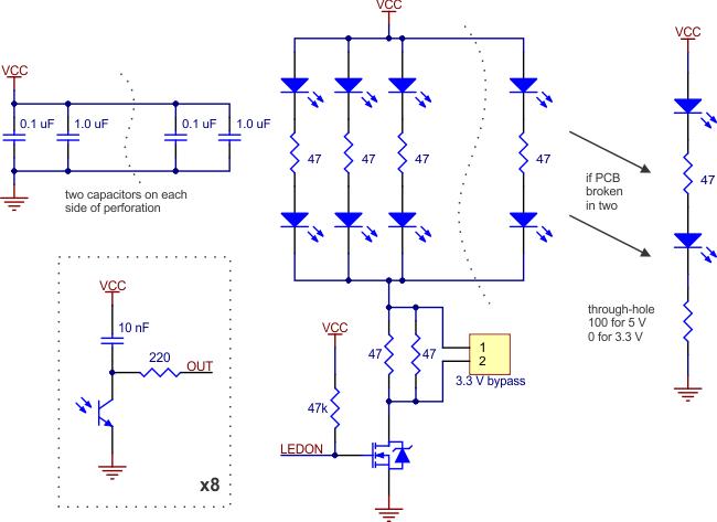 Pololu - QTR-8RC Reflectance Sensor Array