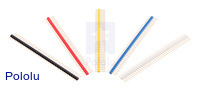 "0.100"" (2.54 mm) Breakaway Male Headers: 1×40-Pin, Straight."