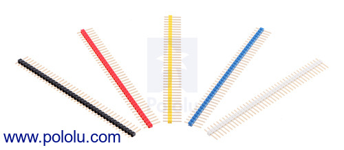New 0.1″ male header strips