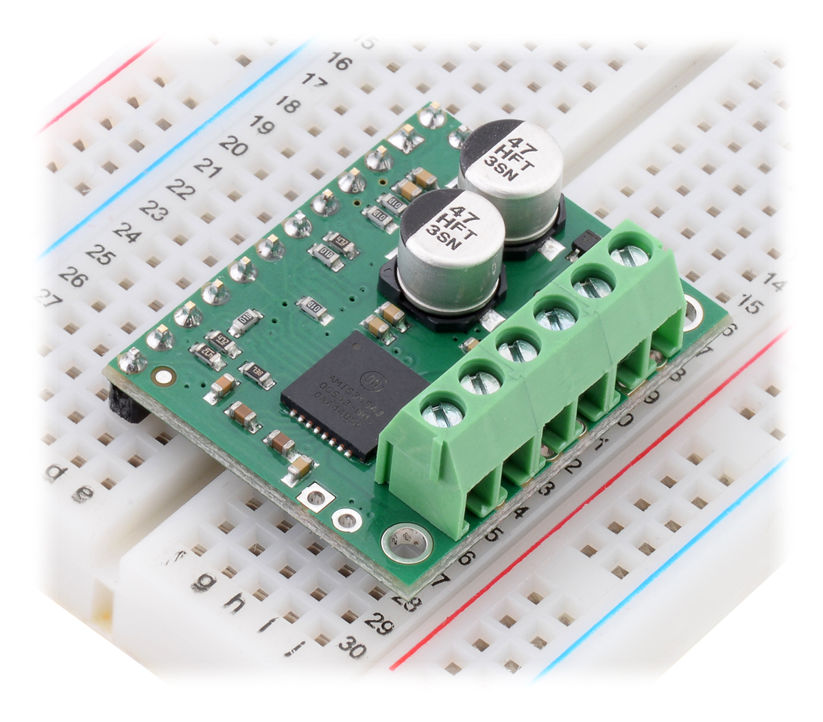 Pololu Amis 30543 Stepper Motor Driver Carrier Control Circuit Proteus Simulation Pic Assembly Source Included Hardware