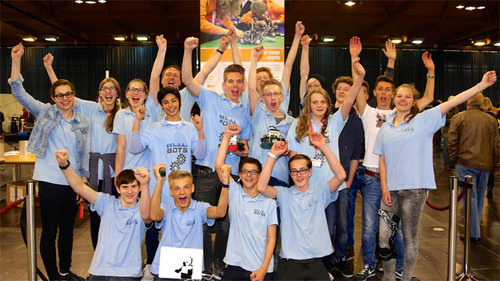 Bohlebots at the German Open in Robocup Soccer 1v1
