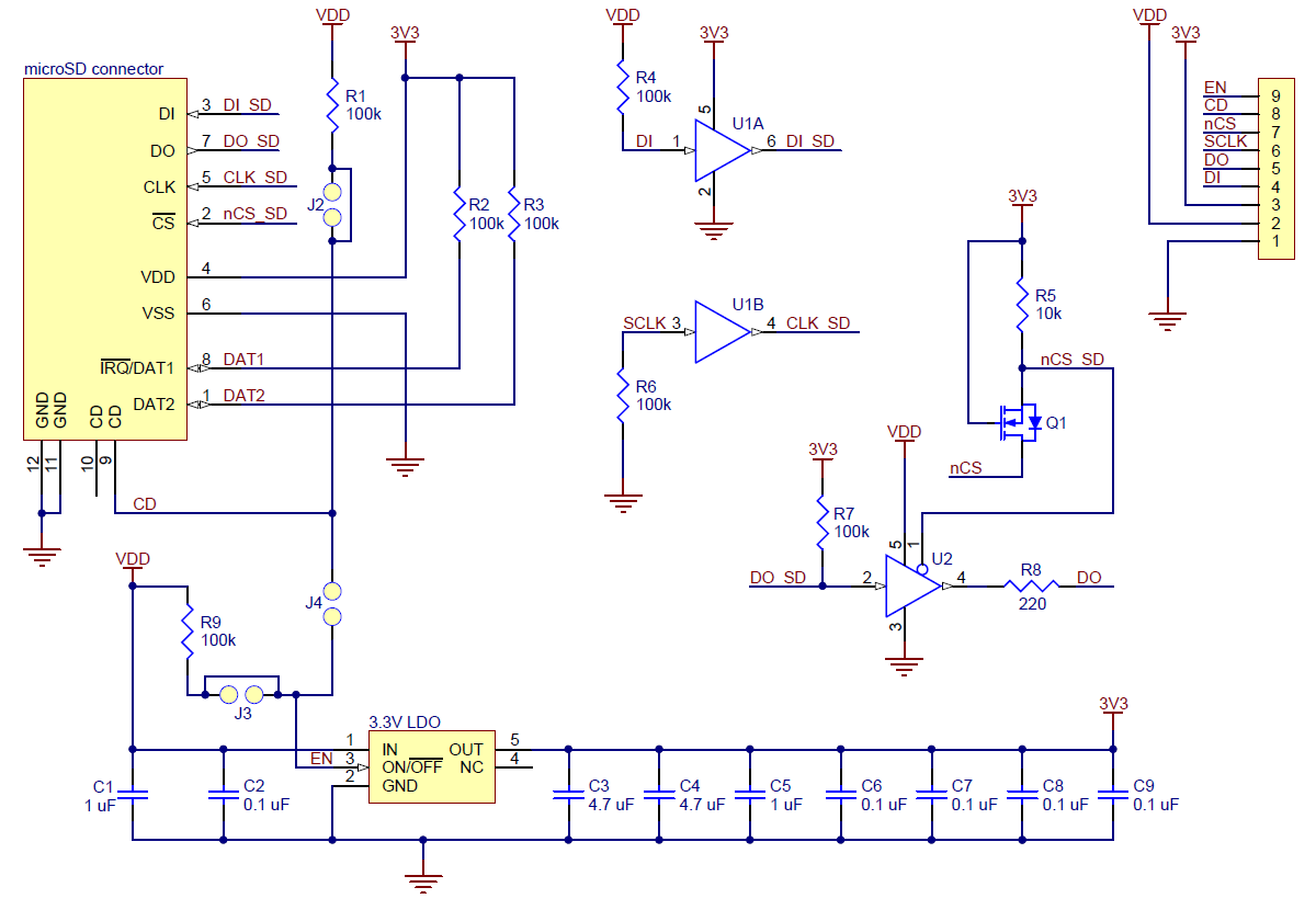 Level Shifter Circuit Diagram | Pololu Breakout Board For Microsd Card With 3 3v Regulator And
