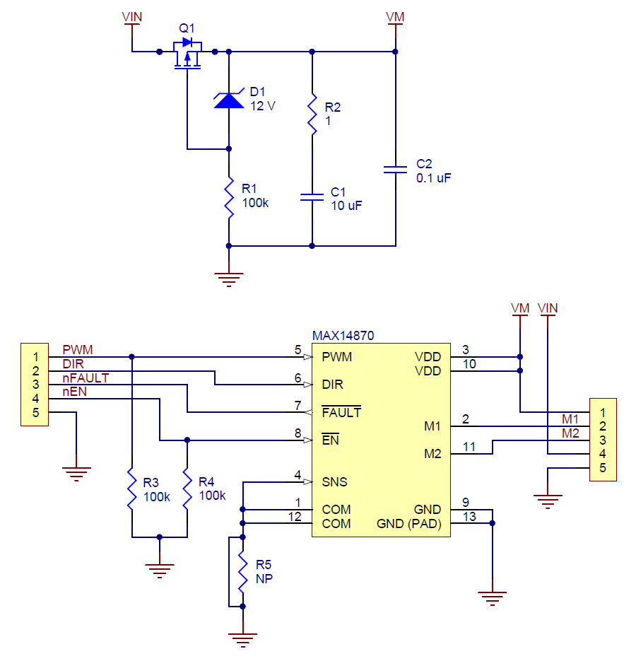 Pololu Max14870 Single Brushed Dc Motor Driver Carrier H Bridge Circuit Diagram With Forward Reverse Schematic