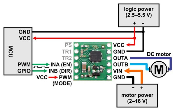 Pololu Bd65496muv Single Brushed Dc Motor Driver Carrier