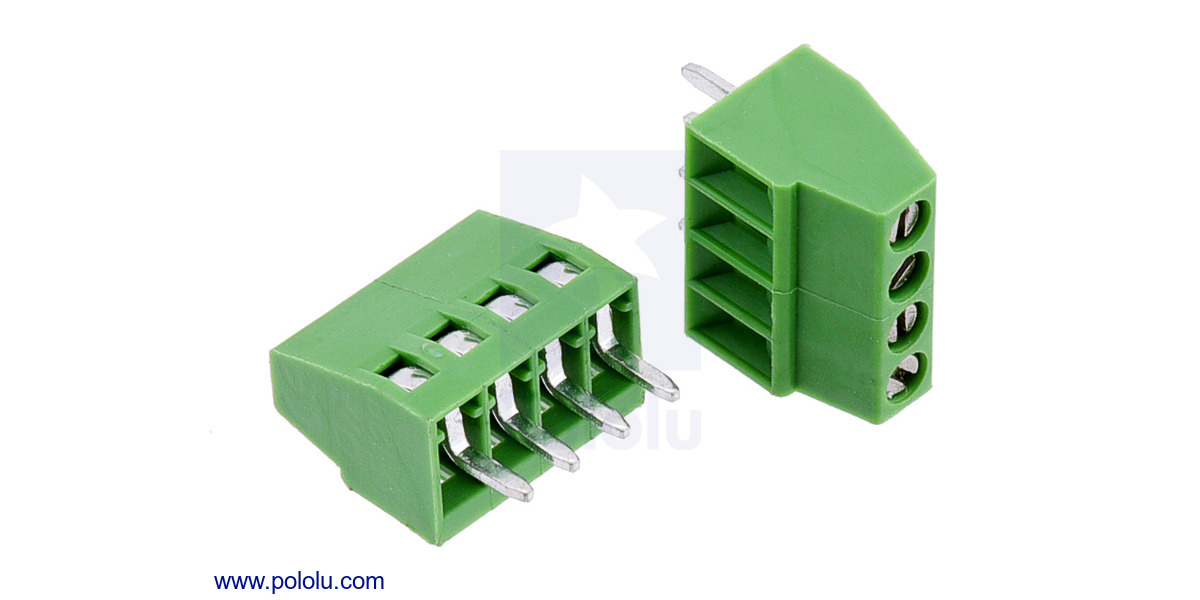 pololu screw terminal block 4 pin 0 1 u2033 pitch side entry 2 pack rh pololu com