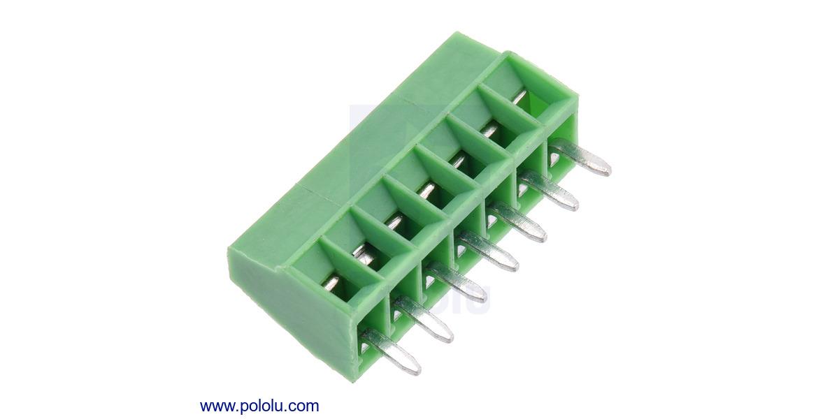Pololu screw terminal block 7 pin 0 1 pitch side entry for Terminal exterior 15 kv