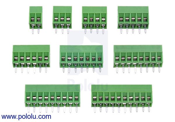 New products: 0.1″ (2.54 mm) screw terminal blocks