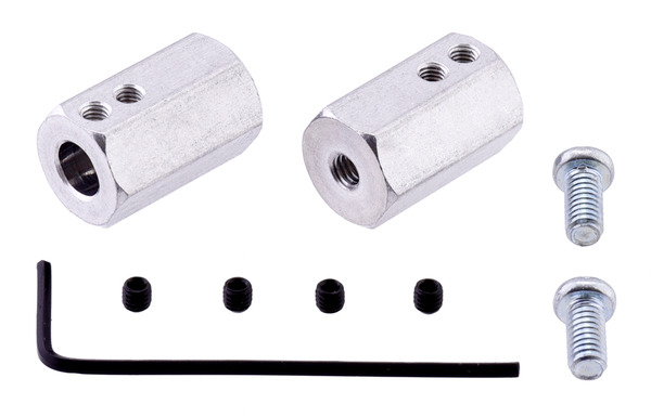 New product: shorter 12 mm hex wheel adapter for 6mm shafts