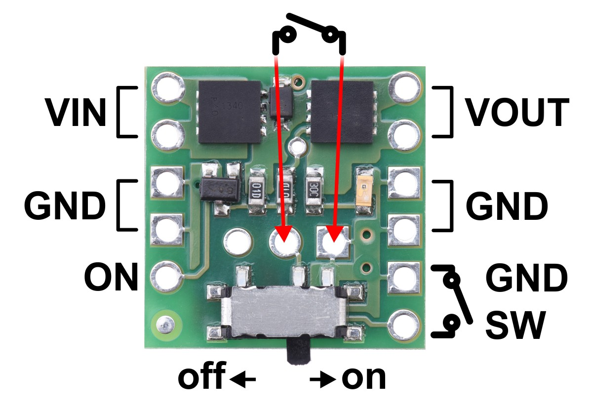 Pololu Mini Mosfet Slide Switch With Reverse Voltage Protection Lv Of Momentary Switches Spst Should Only Require Two Terminals Using The