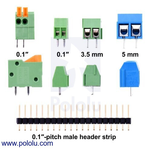 Screw Terminal Block: 7-Pin, 0 1″ Pitch, Side Entry