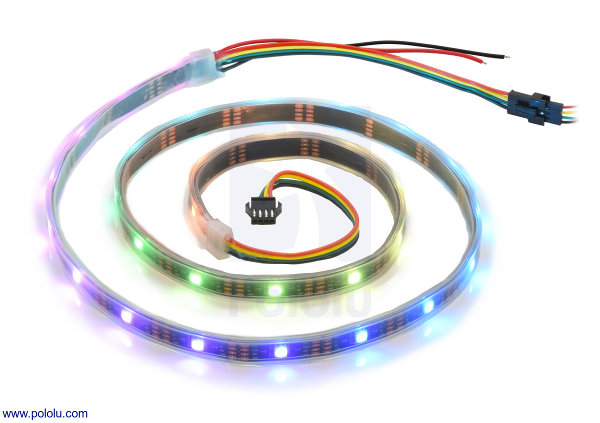 Pololu - Addressable RGB 30-LED Strip, 5V, 1m (APA102C)