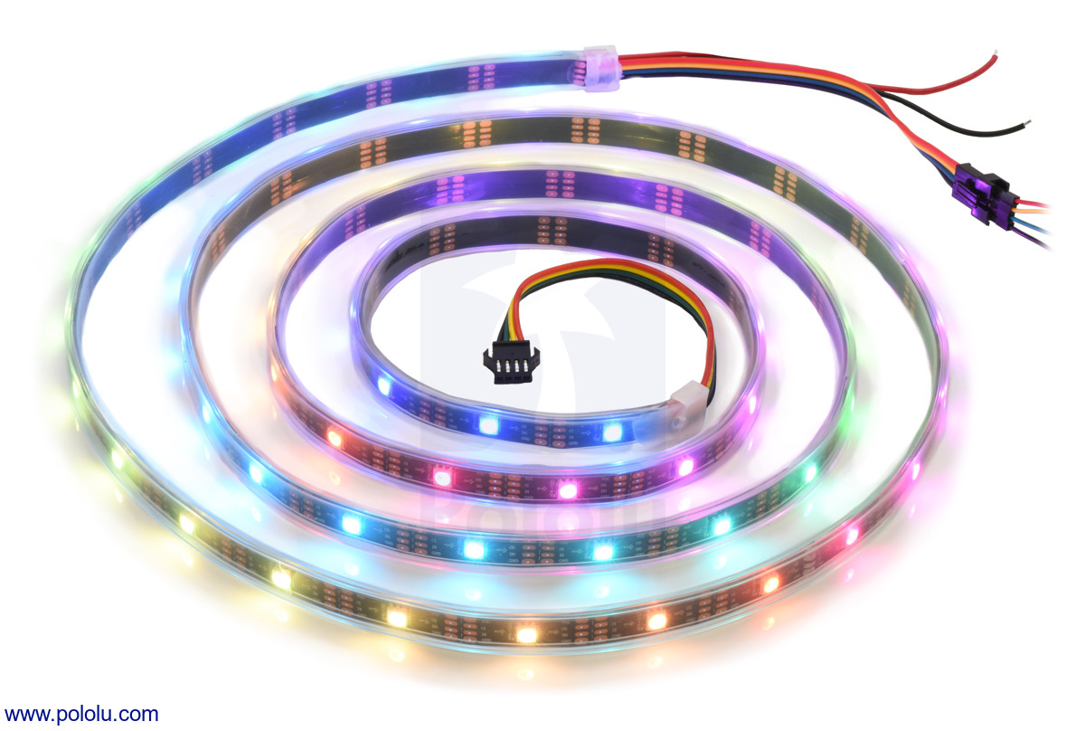 Addressable RGB 60-LED Strip, 5V, 2m (APA102C)