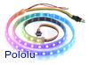 Addressable RGB 60-LED Strip, 5V, 1m (SK9822)