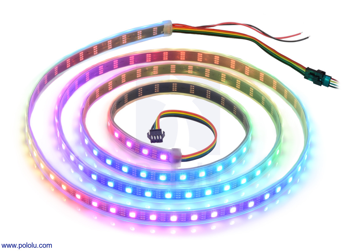pololu addressable rgb 120 led strip 5v 2m apa102c. Black Bedroom Furniture Sets. Home Design Ideas