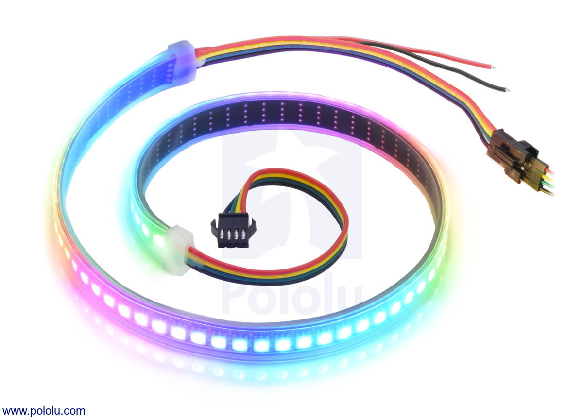 Addressable High-Density RGB 72-LED Strip, 5V, 0 5m (SK9822)