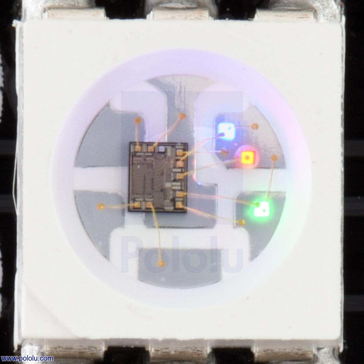 Pololu - Addressable RGB 8x32-LED Flexible Panel, 5V, 10mm Grid