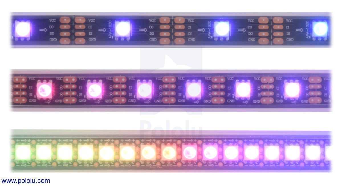 Pololu - Addressable RGB 60-LED Strip, 5V, 2m (APA102C)