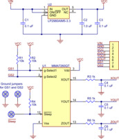 MMA7260QT 3-axis accelerometer schematic diagram.