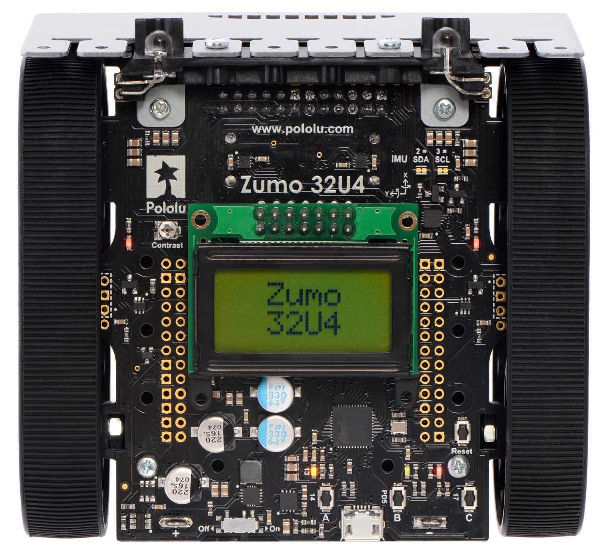 Pololu Zumo 32u4 Robot Users Guide There Are Fancier Designs Available But The Above Circuits Leds