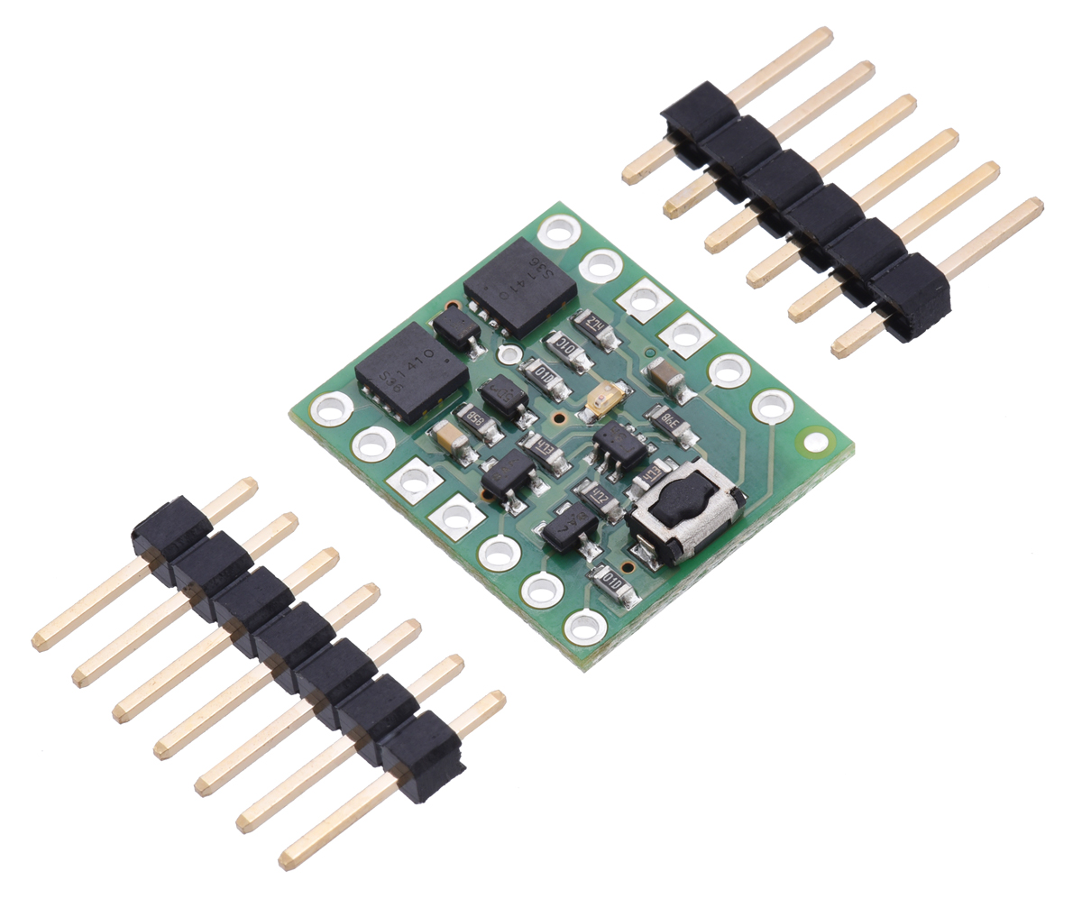 Pololu Mini Pushbutton Power Switch With Reverse Voltage Bistable Latching Circuitry Protection Lv