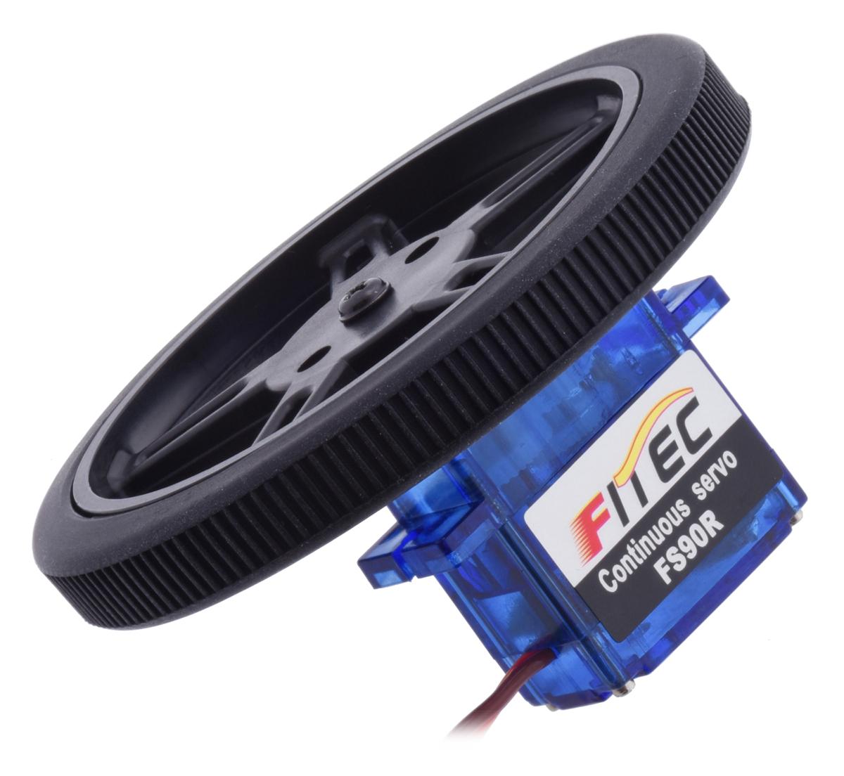 Pololu Feetech Fs90r Micro Continuous Rotation Servo Controlled Potentiometer Motor Control Wheels
