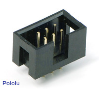"Shrouded Box Header: 2×3-Pin, 0.100"" (2.54 mm) Male"