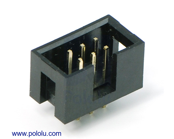Pololu Shrouded Box Header 2 215 3 Pin 0 100 Quot 2 54 Mm Male