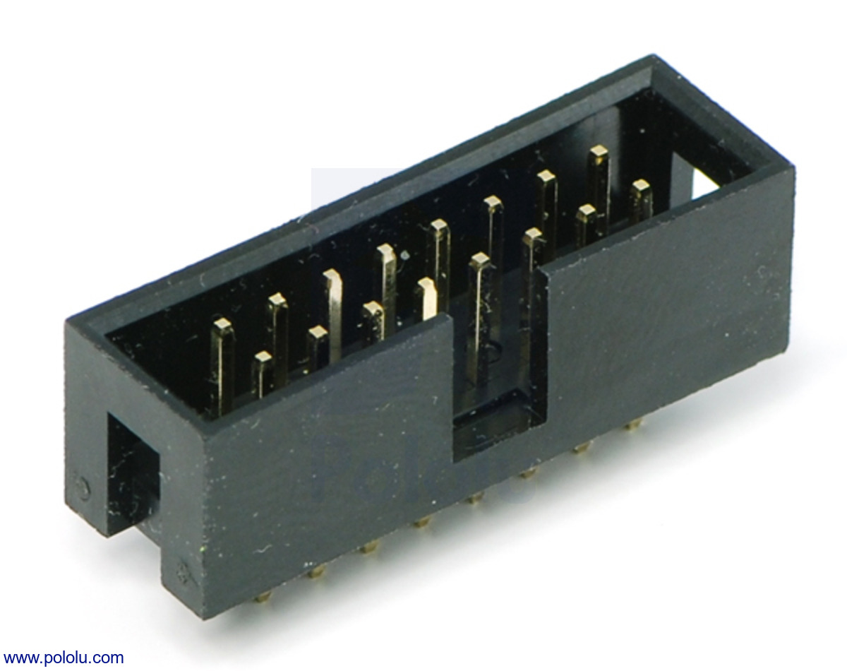 Pololu Shrouded Box Header 2 215 8 Pin 0 100 Quot 2 54 Mm Male
