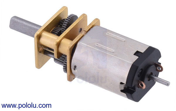 HPCB micro metal gearmotors with extended motor shafts